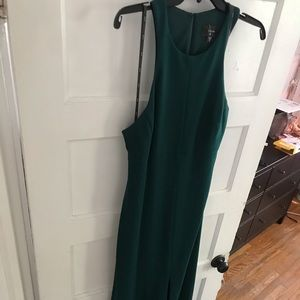 Vera Wang Emerald ball gown w/ slit and open back